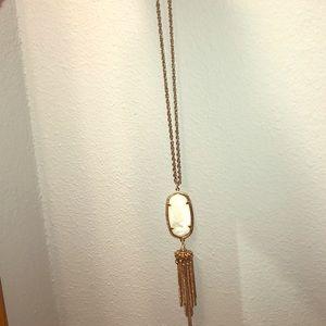 Long white Kendra Scott necklace